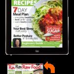 raw food magazine with raw food recipes