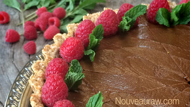 Raw Chocolate Caramel Pie