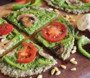 Spinach Pesto Pizza