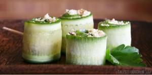 Cauliflower Cous Cous Cucumber Rolls Ftr