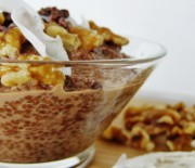German Chocolate Chia Porridge