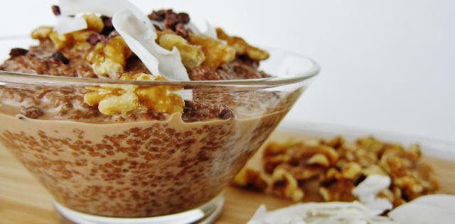 German Chocolate Chia Porridge