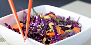 Red Cabbage Slaw with Mint