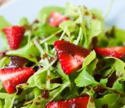 Strawberry Arugula Salad with Balsamic Vinaigrette