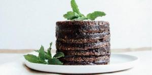 Raw Double Chocolate Layer Cake