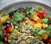 Rainbow Slaw With Pumpkin Seed and Kale