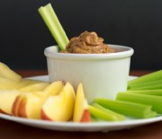 Apple/Celery with Almond Miso Spread