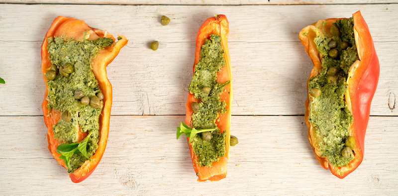 Pesto Bell Peppers