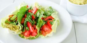 eggless salad wrap