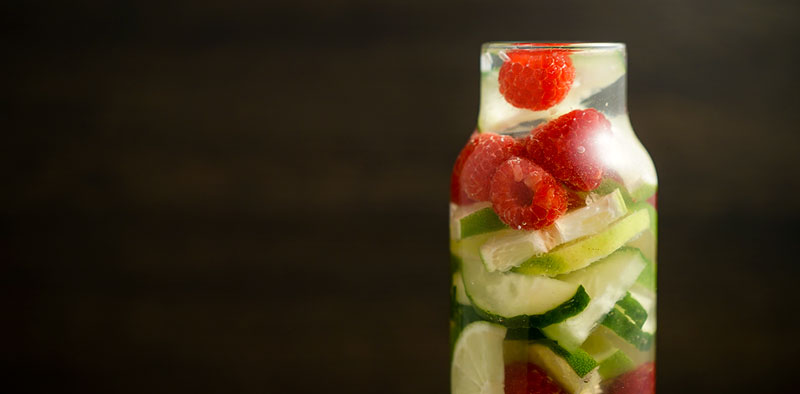 Raspberry Cucumber Limeade