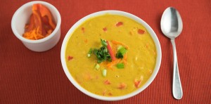 raw green curry soup