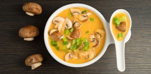 red bell pepper miso soup