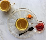 Blood Orange and Cherry Turmeric Milk