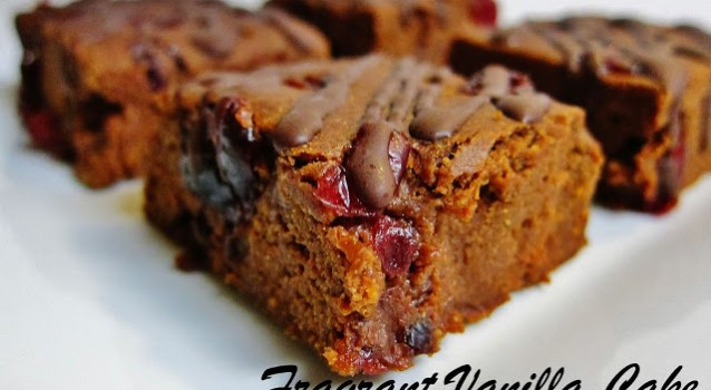 Sweet Potato Cranberry Chocolate Brownies