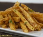 Jicama Garlic Chili Cheese Fries