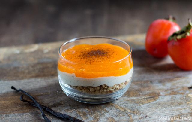 Hazelnut Crunch Persimmon Parfait