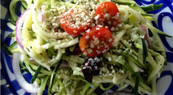 Quick and Easy Zucchini Noodle Pasta