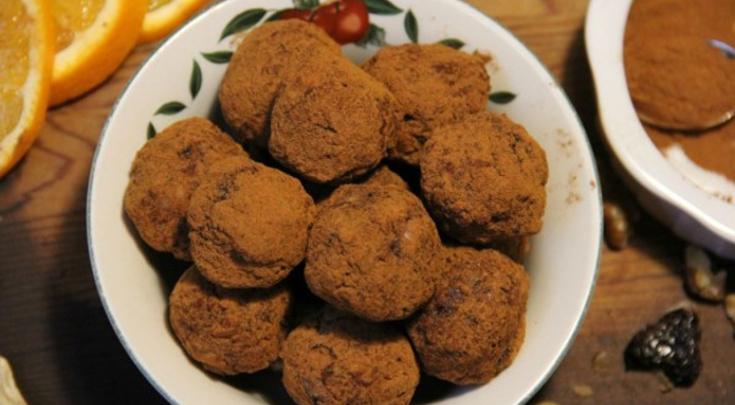 Spiced Orange Cherry Walnut Truffles