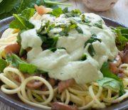 Spinach Mushroom Spaghetti