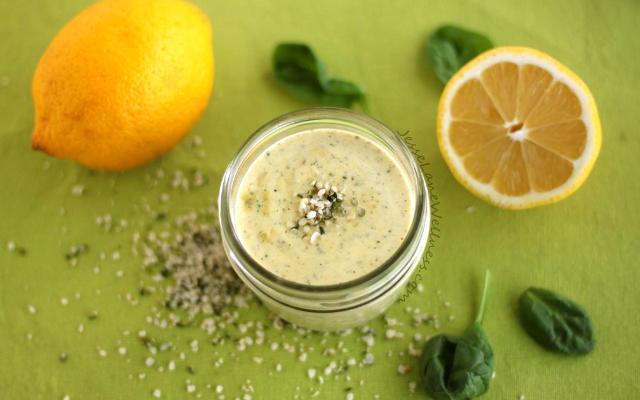 Lemon Hemp Salad Dressing
