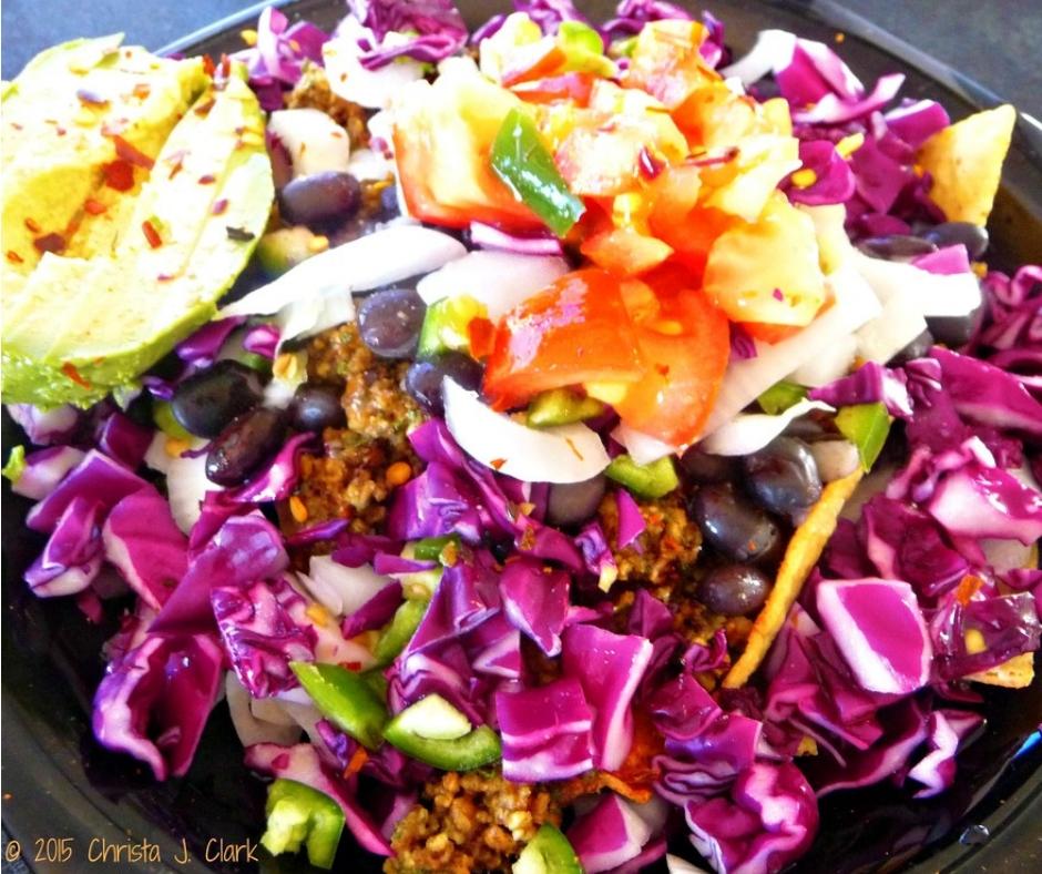 "Taco Salads with Pecan ""Taco Meat"" (Vegan, Gluten-Free & Raw)"