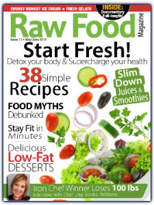 raw food magazine and easy raw food recipes