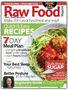 raw food magazine - raw food recipes and meal plan