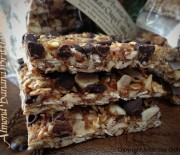 Almond Banana Brittle Cookie Squares