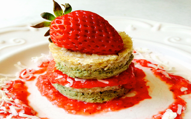 Strawberry Lime Cheesecake Stacks