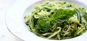 Raw Vegan Zuchini Pasta with Pesto