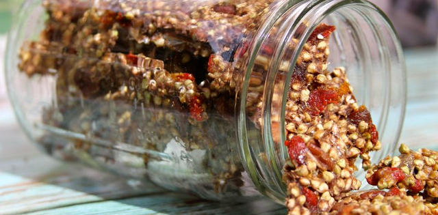 Banana Nut Granola Brittle With Apricot and Goji