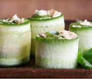 Cauliflower Cous Cous Cucumber Rolls