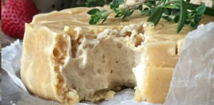 Raw Brie Cashew Cheese with Rind