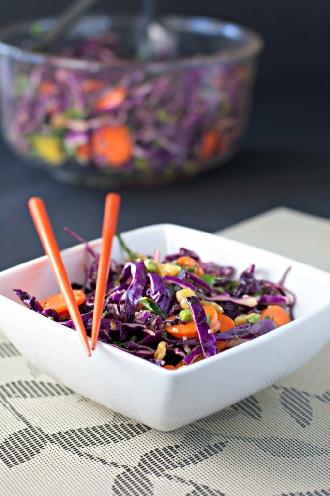 thai style cabbage slaw easiest ever 5 minute thai peanut ginger slaw ...