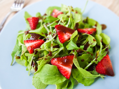 Strawberry and Arugula Salad with Strawberry Balsamic Vinaigrette
