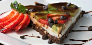 chocolate strawberry kiwi dessert pizza FTR