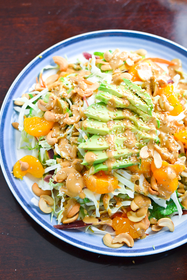 Crunchy Asian Salad With Creamy Peanut Dressing - Raw Food Magazine