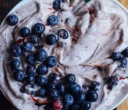 Blueberry Nice Cream With Cinnamon