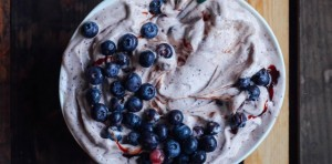 Blueberry Nice Cream with Cinnamon and Baobab FTR