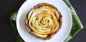 Caramel Apple Rose Tarts