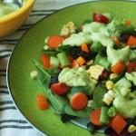 Vegan Avocado Ranch Salad