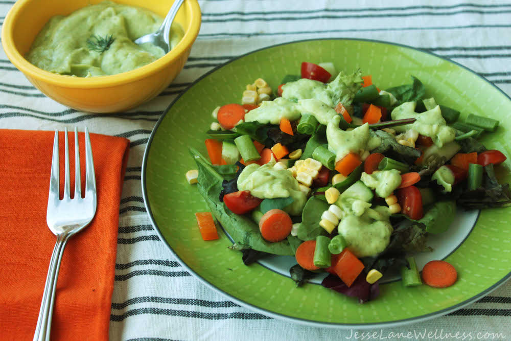 Vegan Avocado Ranch Salad