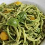 Zucchini Pasta With Cashew Basil Pesto
