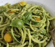 Zucchini Pasta With Cashew Basil Pesto