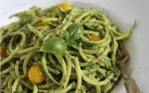 Zucchini Pasta with Cashew Basil Pesto FTR