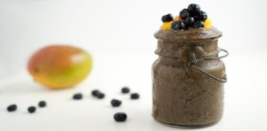 Blueberry Mango Basil Smoothie