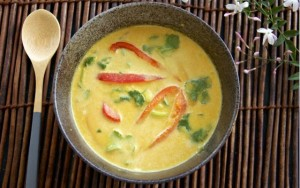 Raw Vegan Curry Coconut Soup
