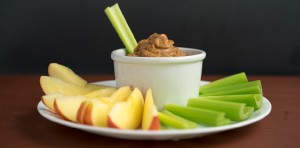 Apples Celery With Almond Miso Spread