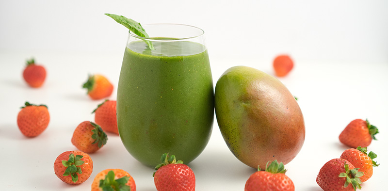 Mango Basil Bliss Smoothie