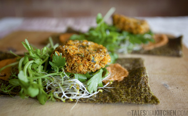 Raw Homemade Veggie Wraps